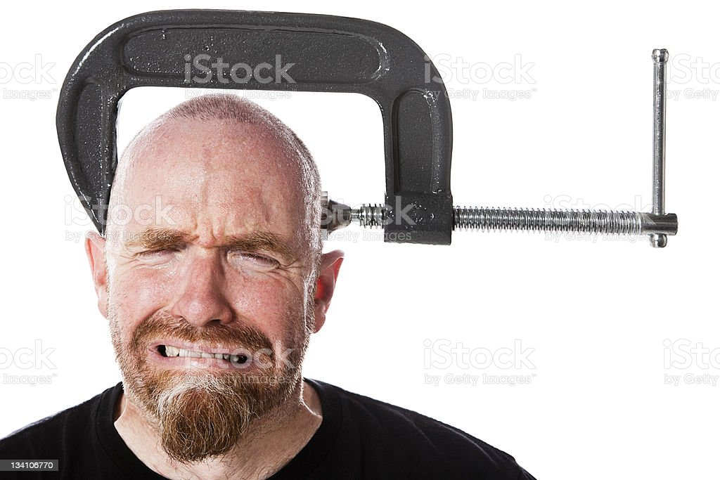 Head clamp stock photo