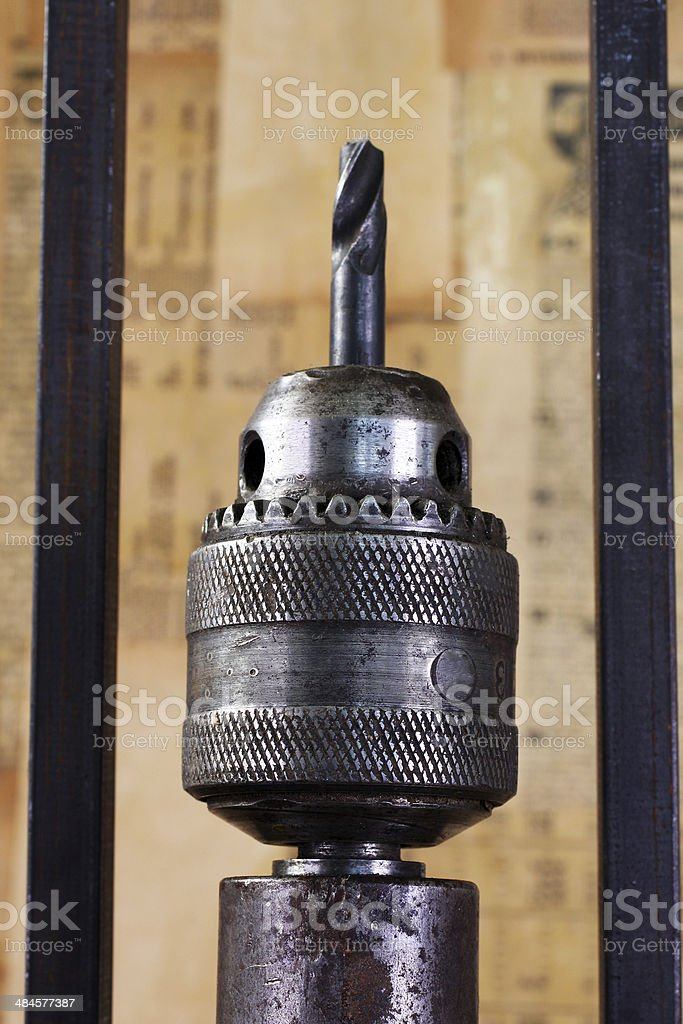 Head drill with bit stock photo