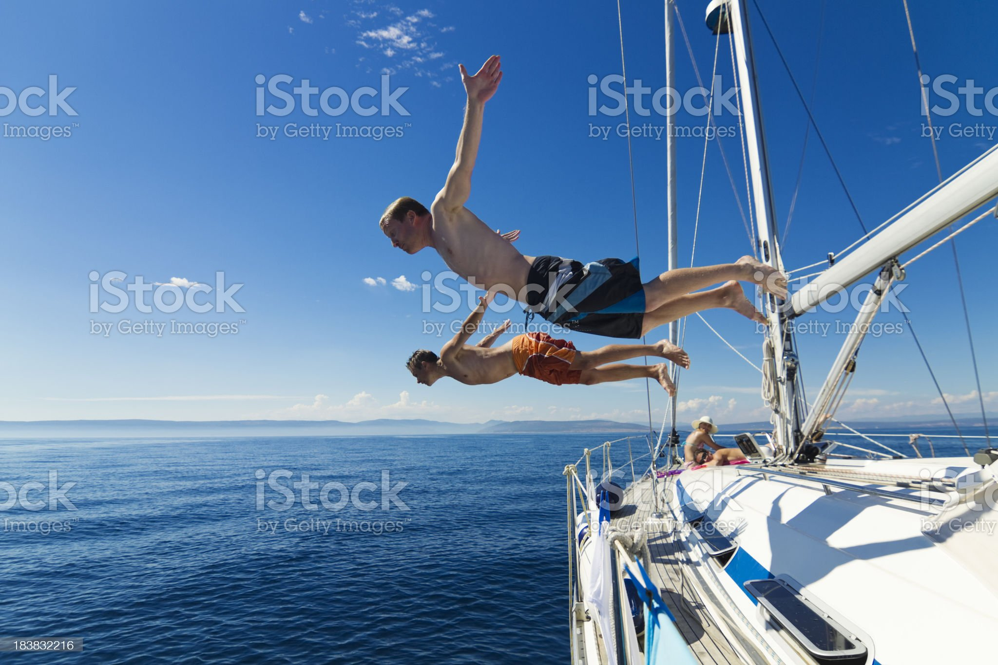 head first jump tandem royalty-free stock photo