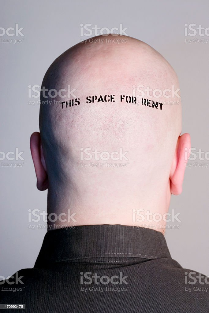 Head For Rent royalty-free stock photo