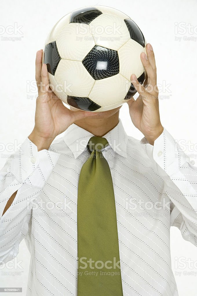 Head For Soccer royalty-free stock photo