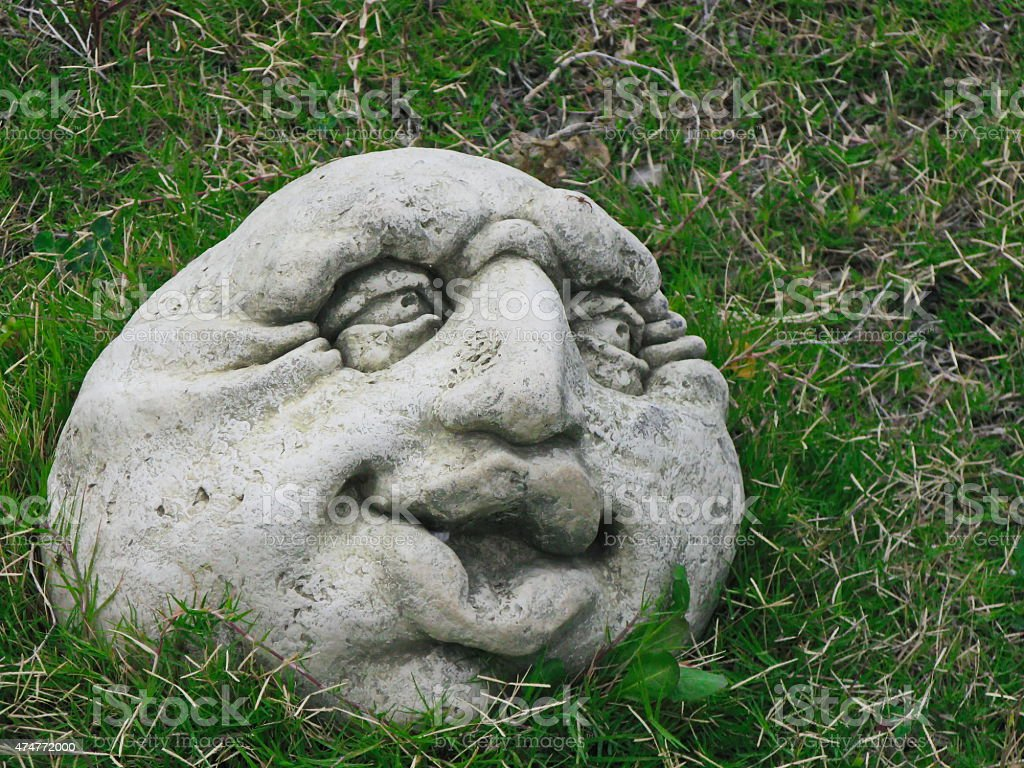 head from a stone stock photo