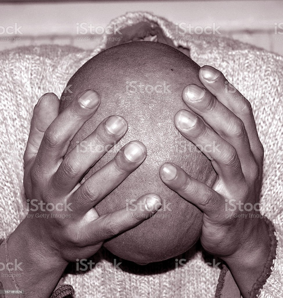 Head & Hands royalty-free stock photo