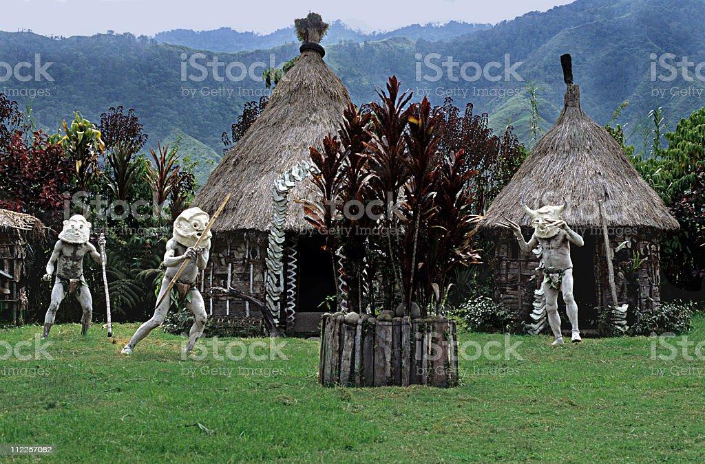 MUDMEN Head hunters, Papua New Guinea royalty-free stock photo