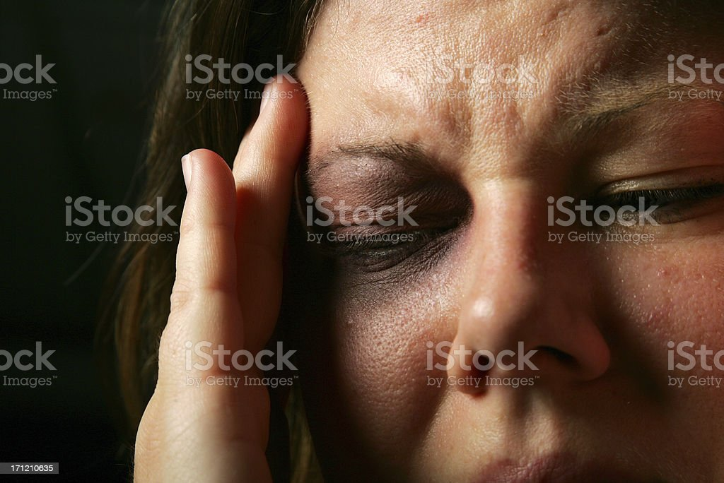 Head hurting royalty-free stock photo