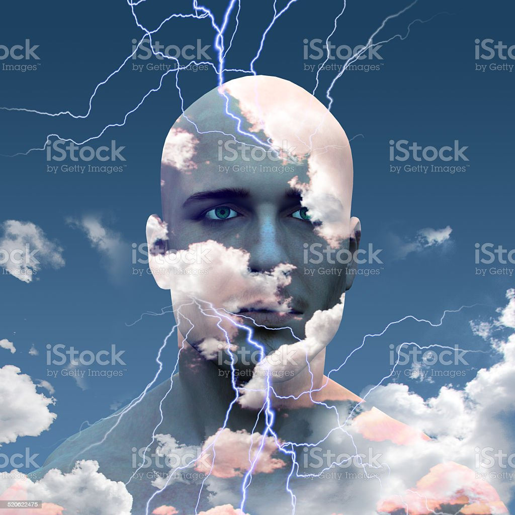 Head in Clouds stock photo