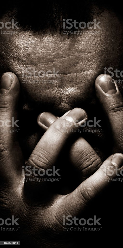 Head in Hands stock photo