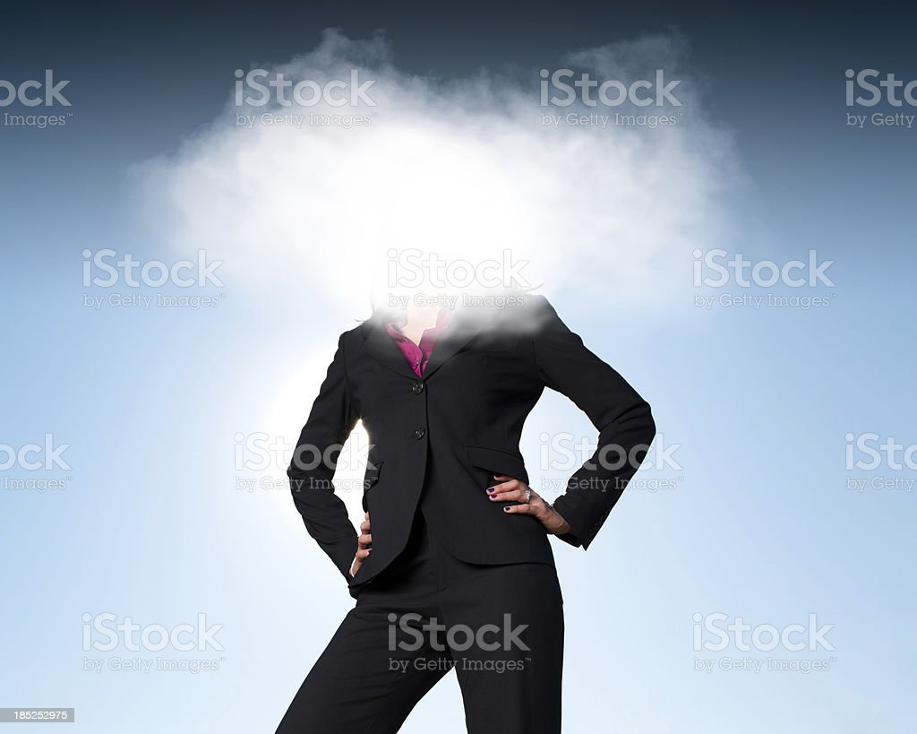 Head in the Clouds royalty-free stock photo