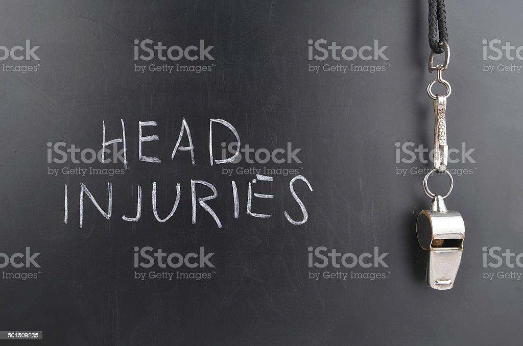 Head Injuries stock photo
