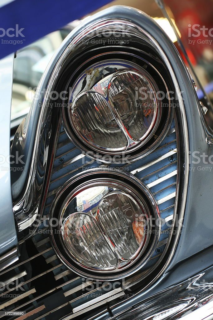 Head  lamp of U.S.vintage car II royalty-free stock photo