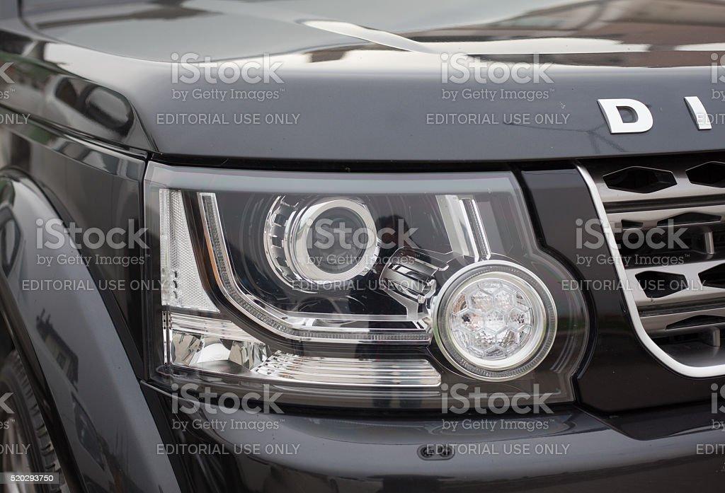 Head Light of Range Rover Discovery stock photo
