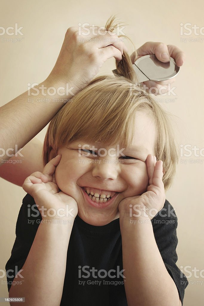 Head Louse Treatment and Prevention stock photo