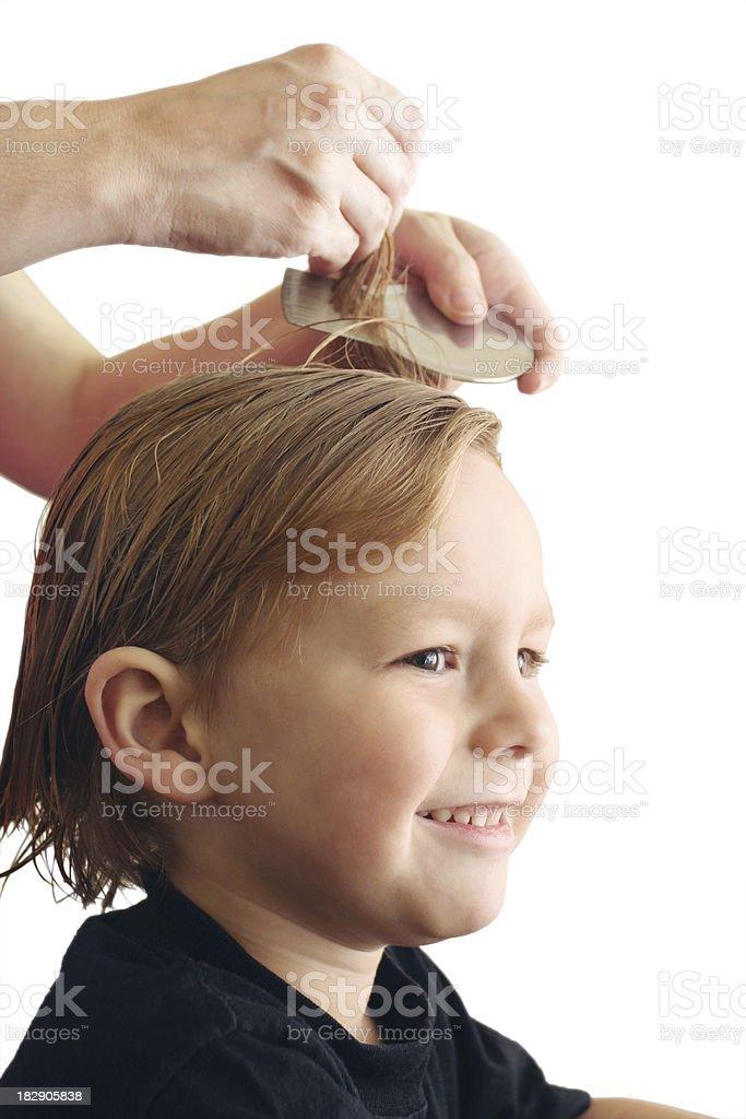 Head Louse Treatment Isolated on White Background stock photo