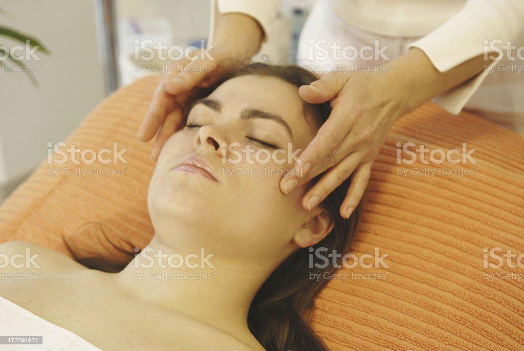 head massage beauty royalty-free stock photo