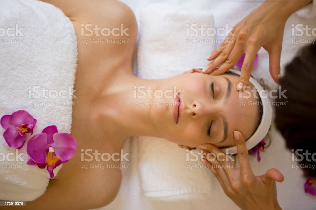 Head massage royalty-free stock photo
