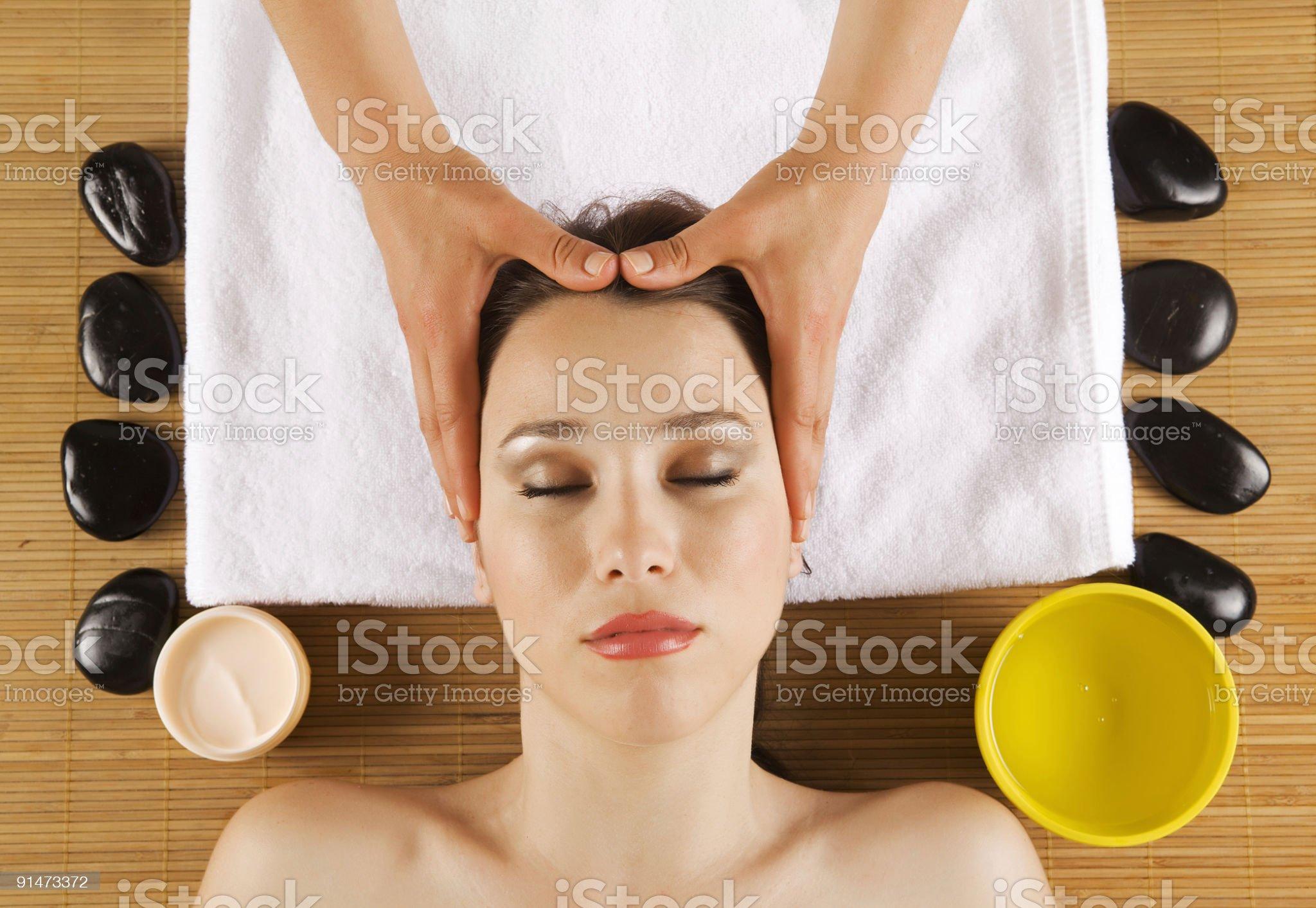 Head Massage royalty-free stock photo