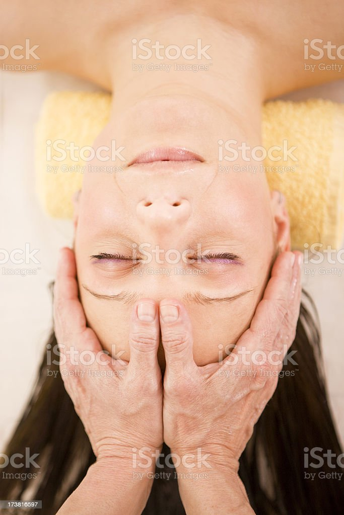 Head Massage XXXL royalty-free stock photo