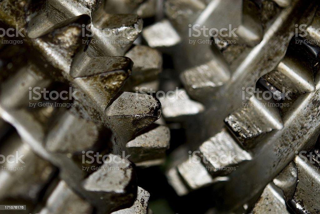Head of a boring machine - Gearwheel Macro royalty-free stock photo