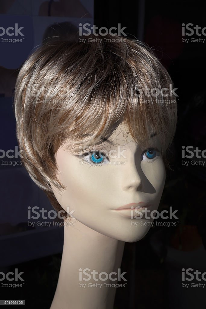 Head of a mannequin royalty-free stock photo