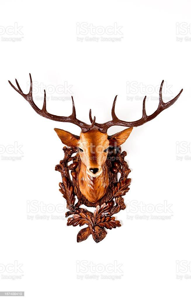 Head of a plastic deer stock photo
