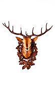 Head of a plastic deer