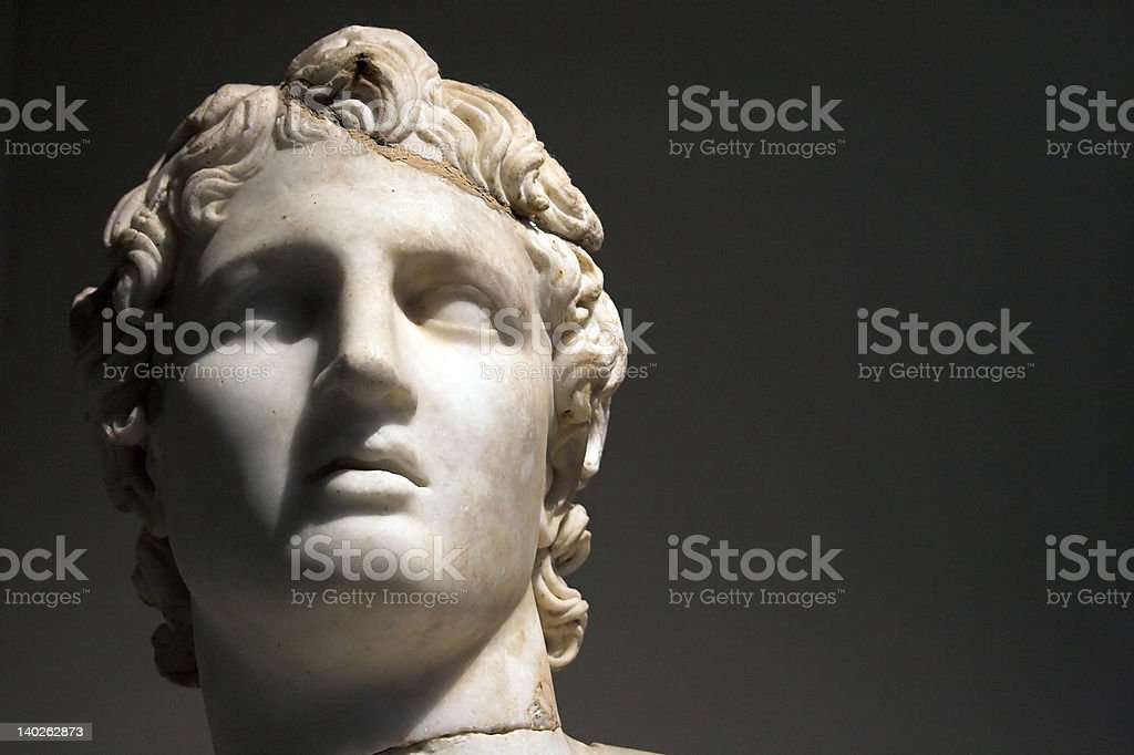 head of Alexandre the Great stock photo