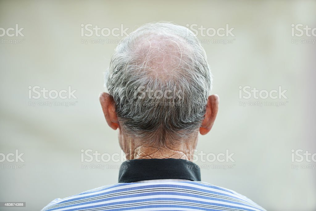 Head of an elder man stock photo