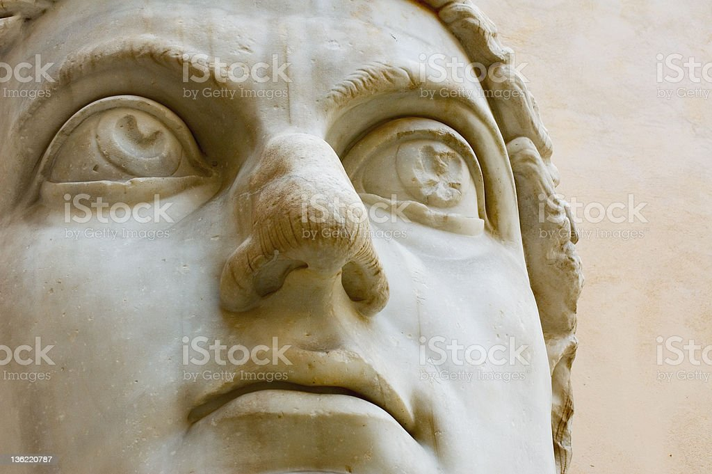 head of ancient statue stock photo