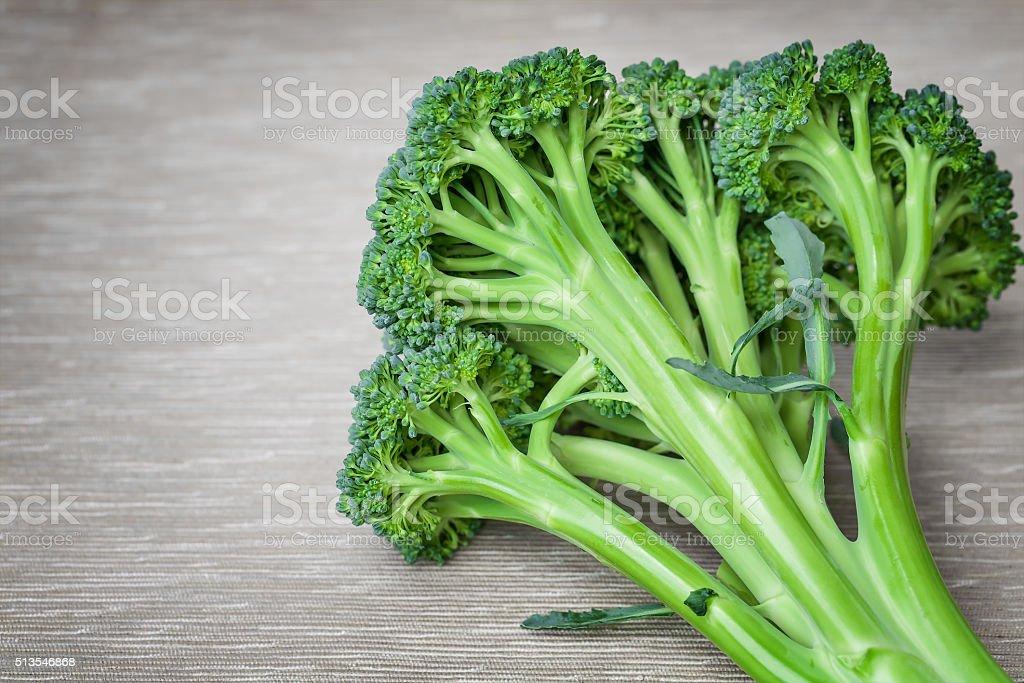 Head of broccoli stock photo