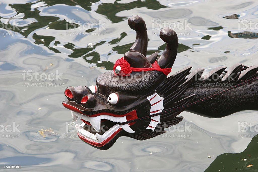 Head of dragon boat royalty-free stock photo