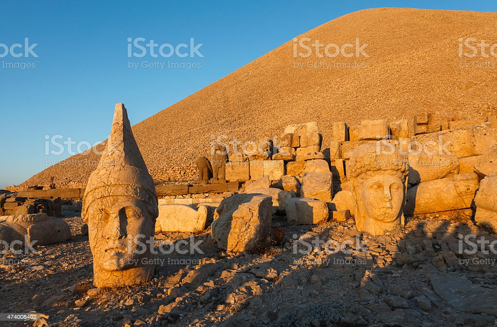 Head of Goddess of Commagene (Tyche) stock photo