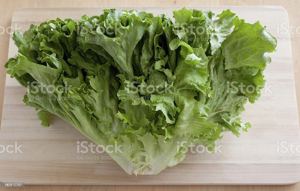 Head of Green Lettuce stock photo