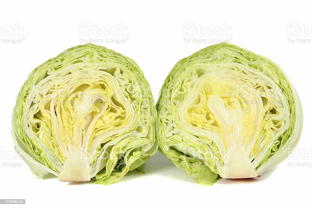Head of Lettuce stock photo