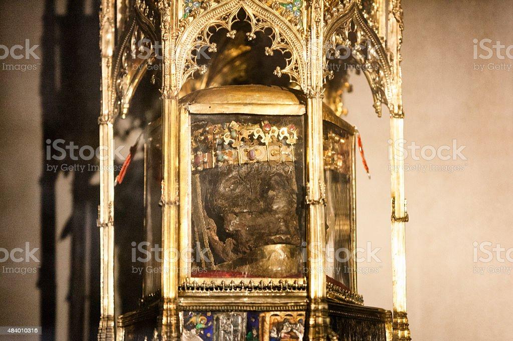 Head of Saint John the Baptist stock photo