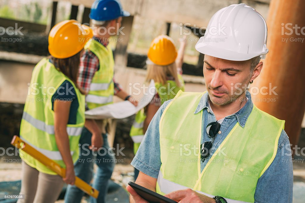 Head Of The Construction Sites stock photo