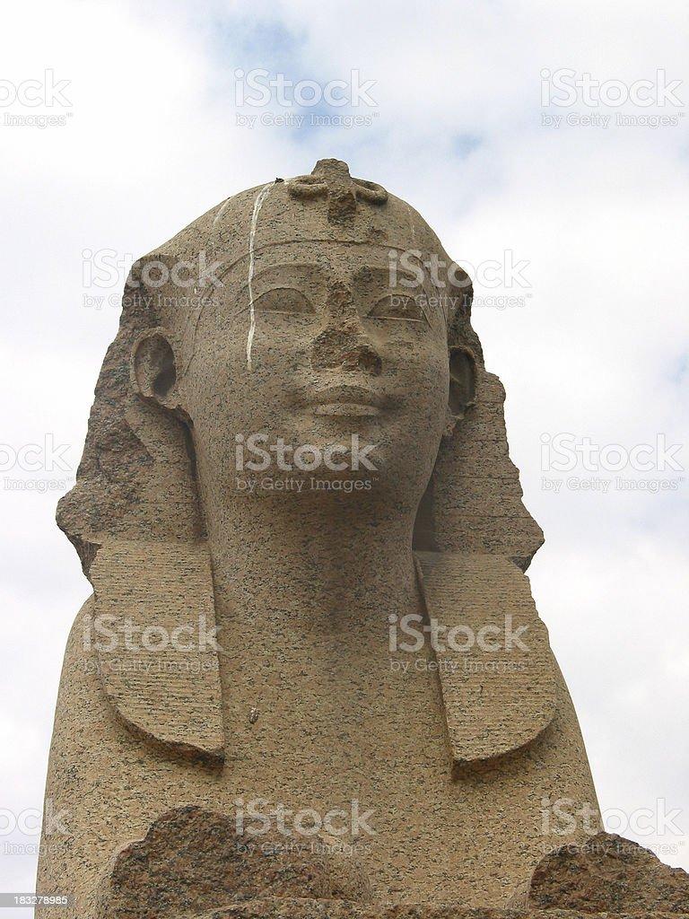 Head of the Sphinx, Egypt stock photo