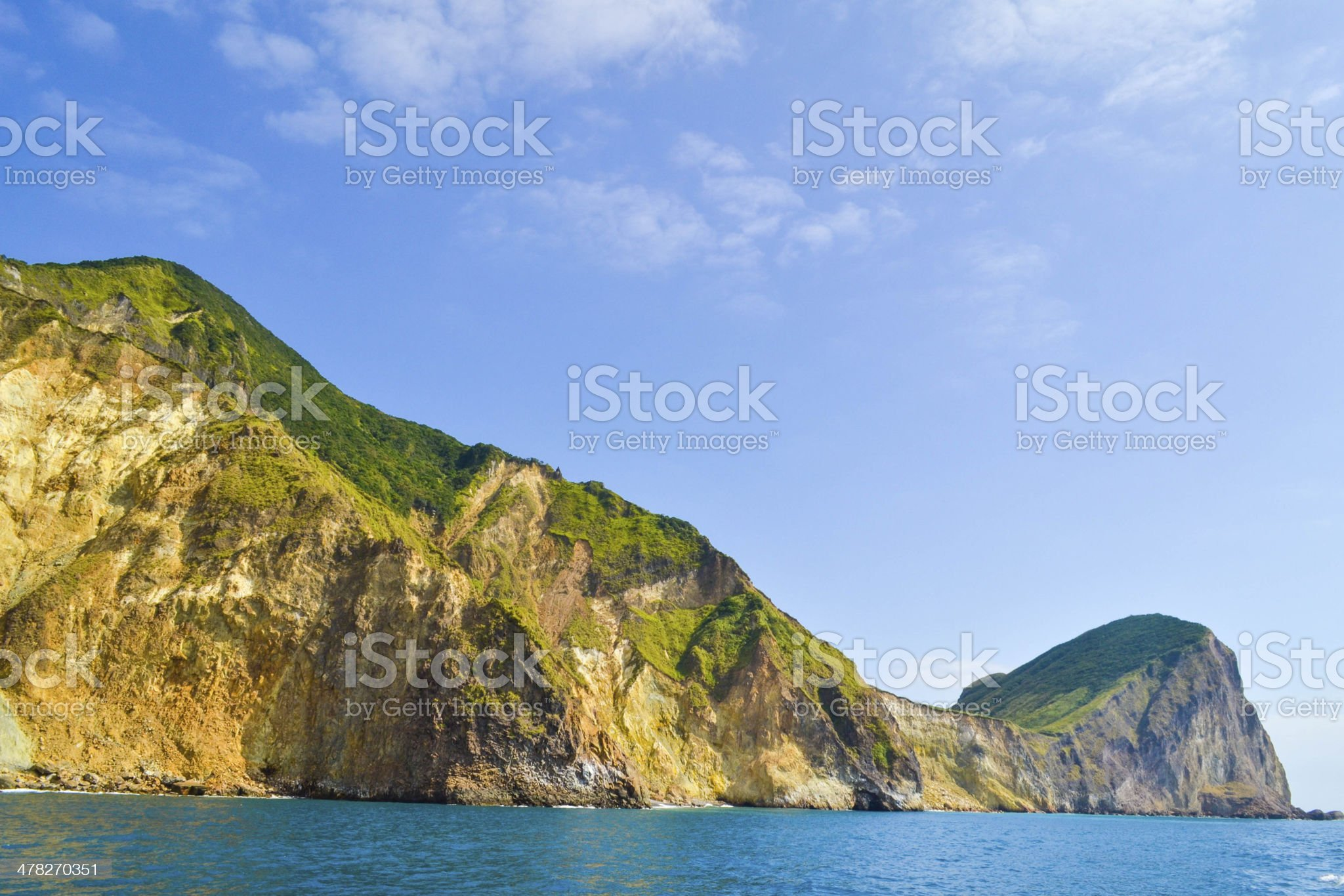 Head of the turtle island royalty-free stock photo