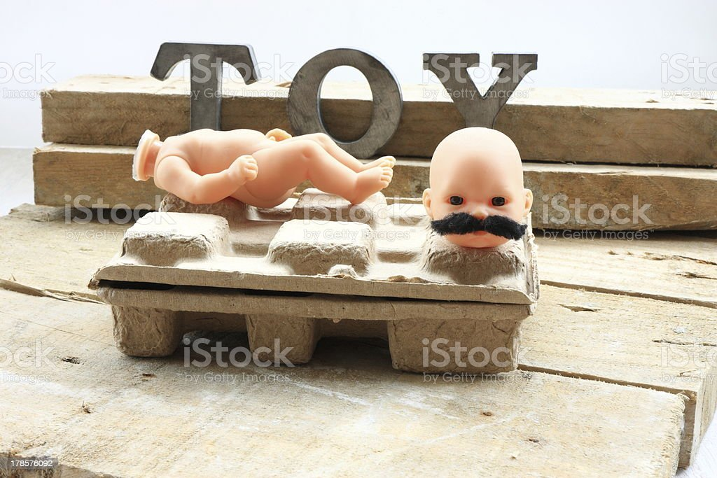 Head of toy royalty-free stock photo