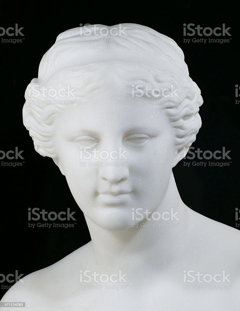 Head of Venus de Milo stock photo