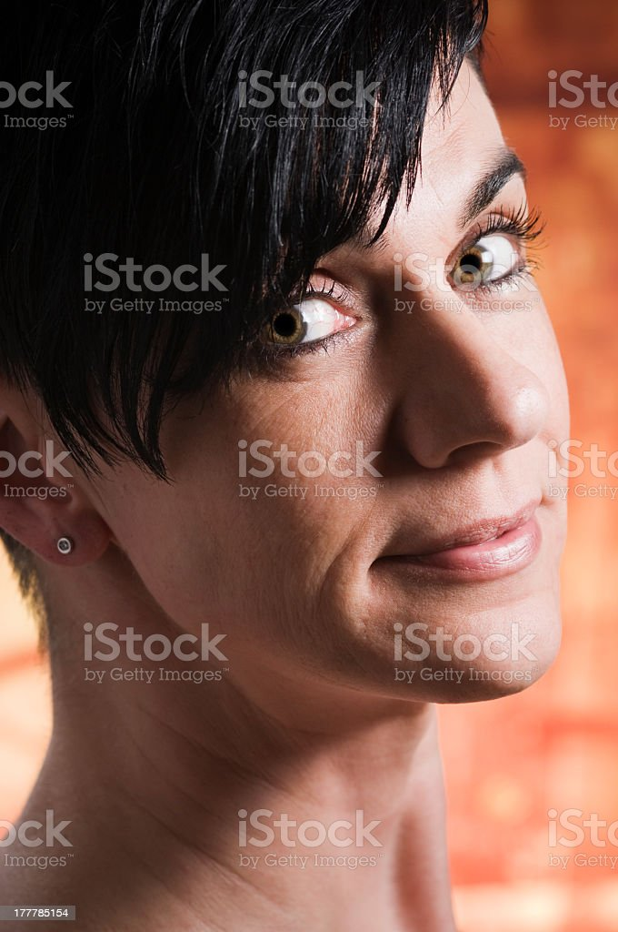 head of woman side royalty-free stock photo