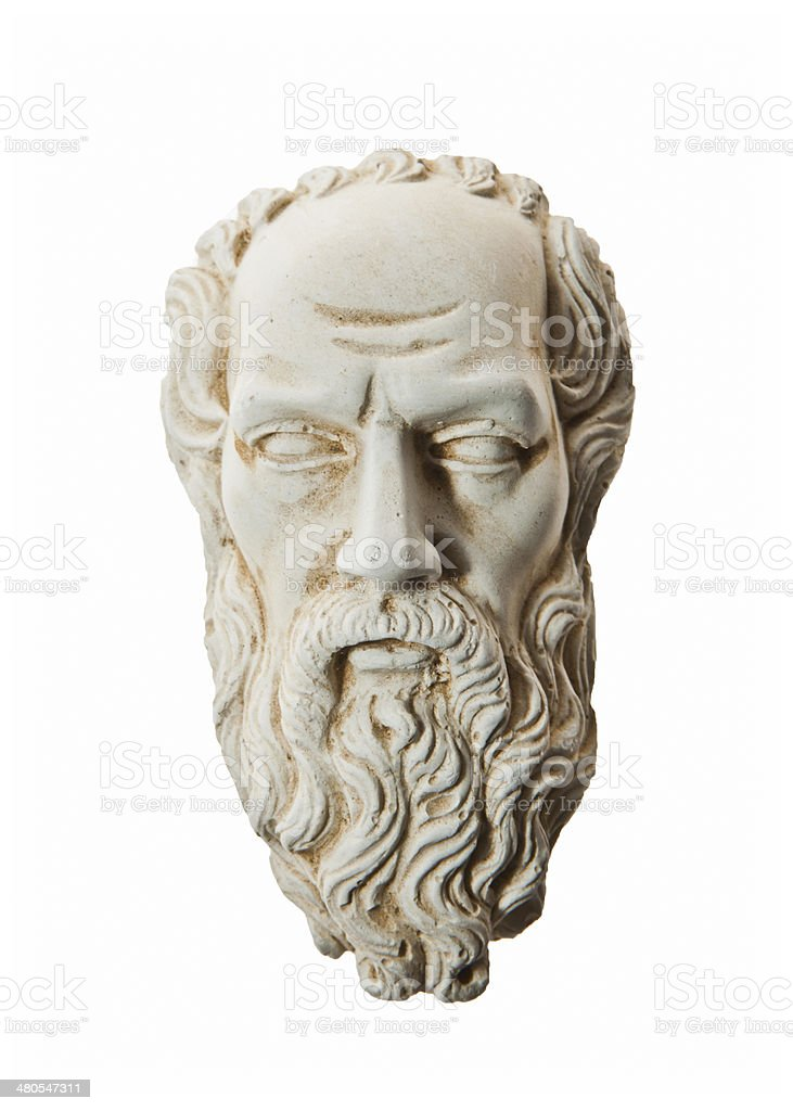 Head of Zeus sculpture royalty-free stock photo