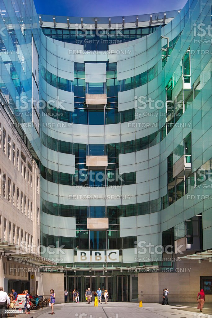 BBC head office, London stock photo