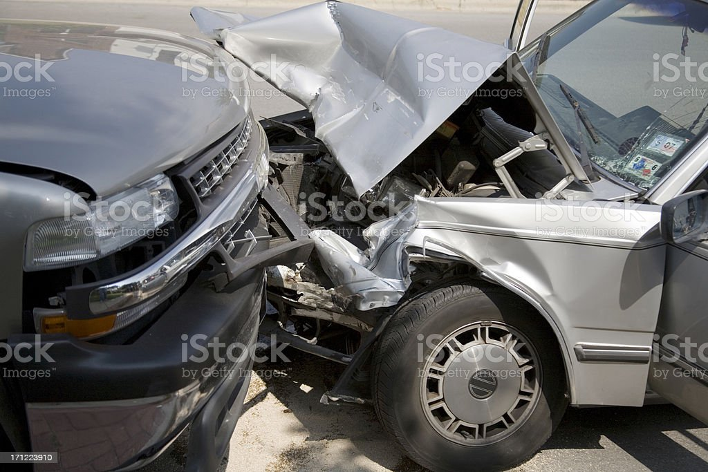 head on collision stock photo