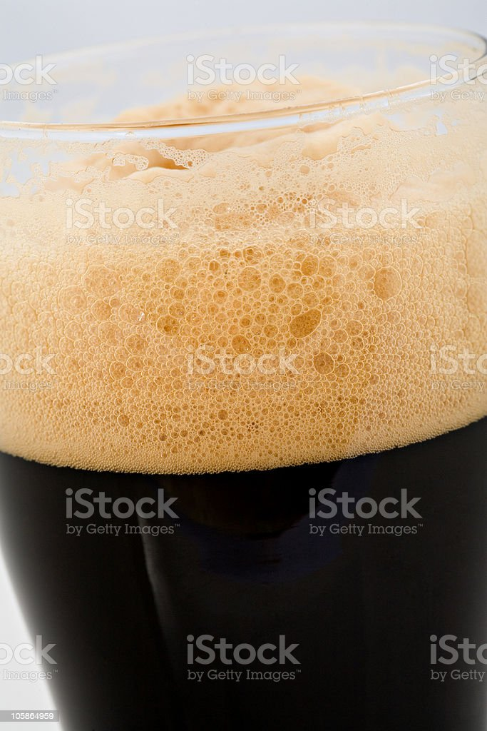 Head on stout royalty-free stock photo