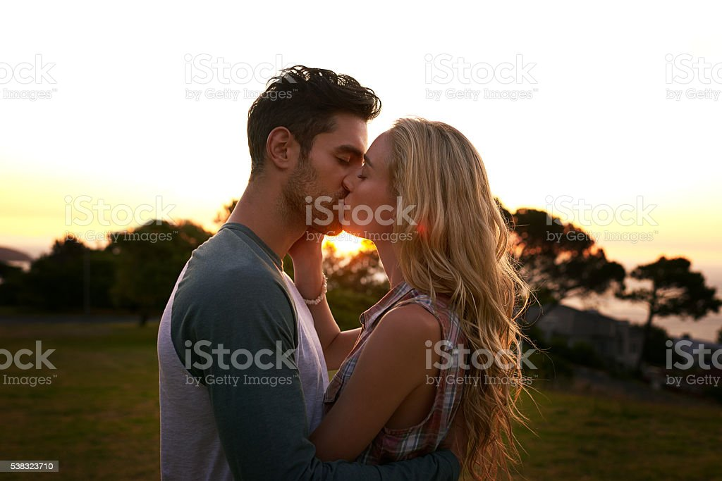 Head over heals in love stock photo