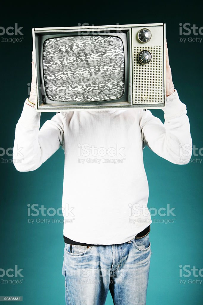 TV head royalty-free stock photo