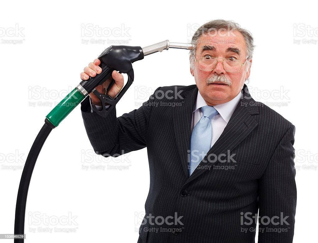 Head shoot with gas nozzle royalty-free stock photo