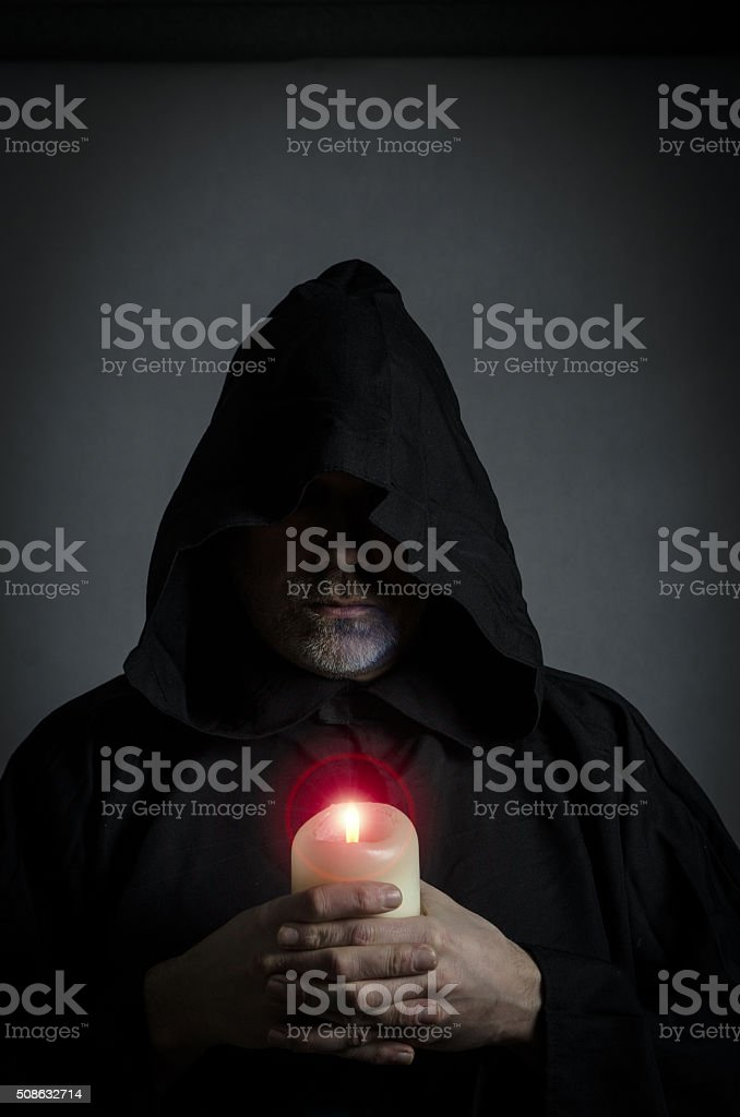 Head shot of a black monk stock photo