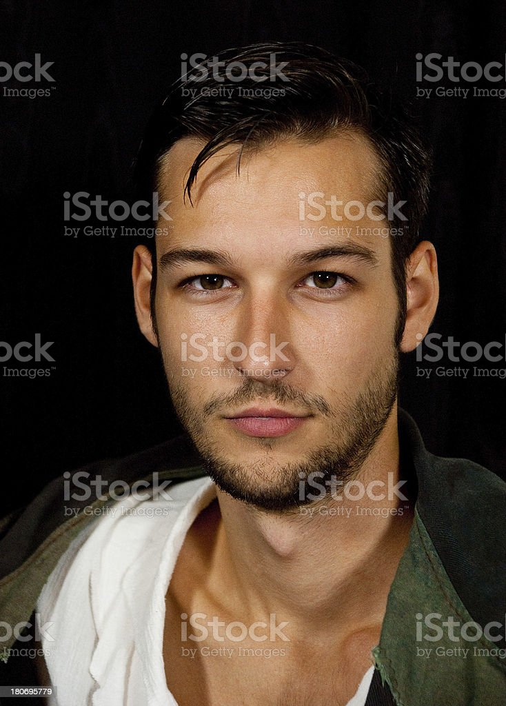 Head Shot of a Young Man stock photo