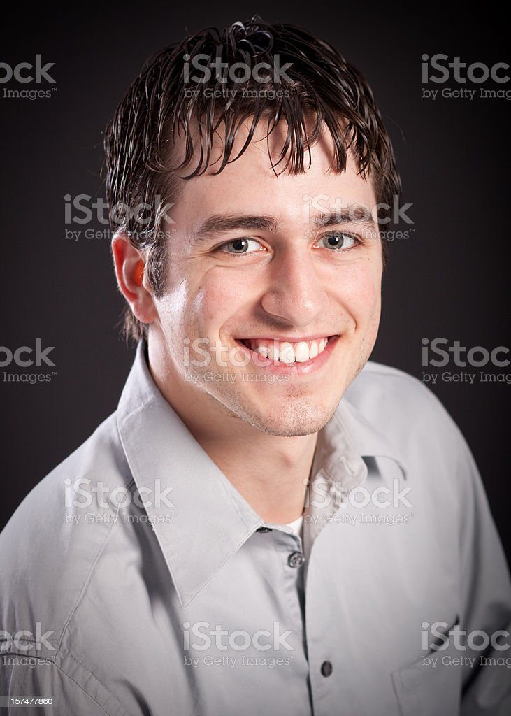 Head Shot of Attractive Man royalty-free stock photo